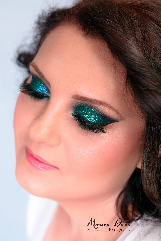 glittere albastre-verzi